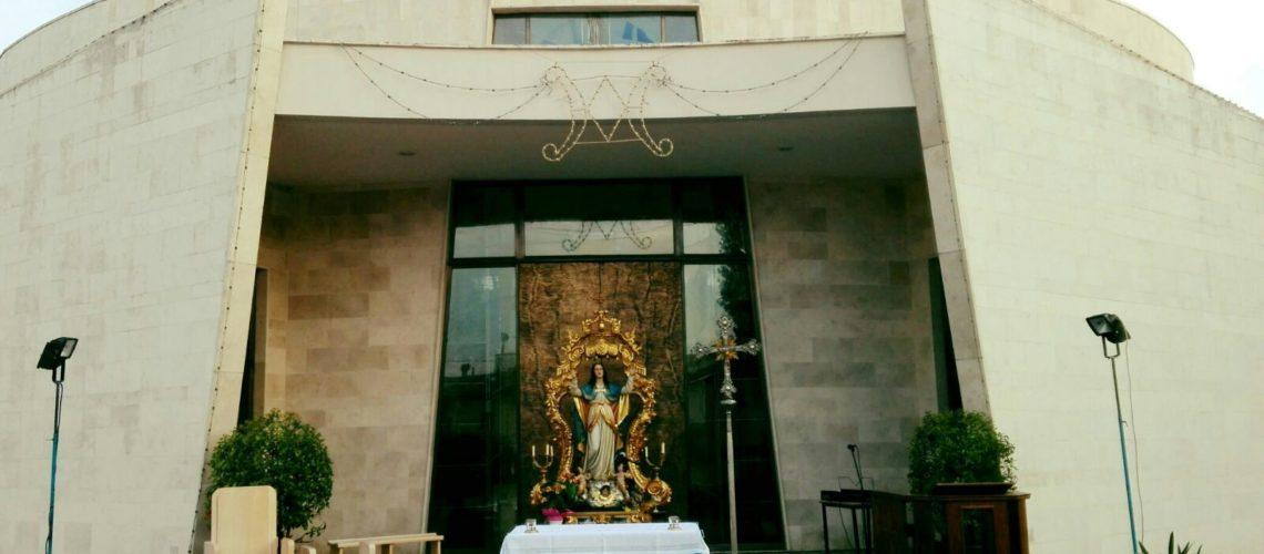 l'esposizione della statua dell'Assunta in attesa dei Vespri