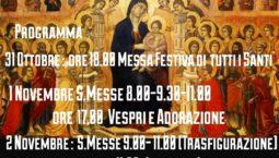 Le celebrazioni per le feste di Ognissanti e dei defunti