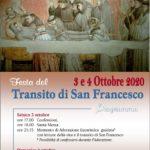 3 e 4 Ottobre: Festa del transito di San Francesco