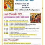 Solennità di Tutti i Santi – Commemorazione di tutti i fedeli defunti 2020